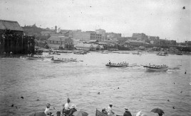 1895 Longboat Race Victoria Harbour