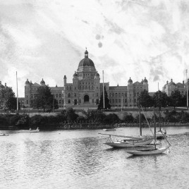 1902 Legislature Buildings from across the harbour